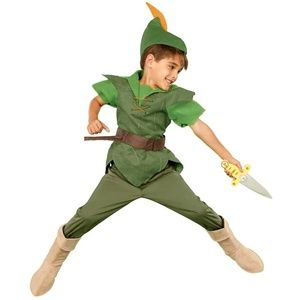 Disney Store PETER PAN Boys Costume 6 7 8